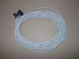 Szilikon gyújtókábel fehér TTB MAX 180°, 1m