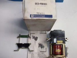Mágneskapcsoló, kisfeszültségű DC kapcsoló 24VDC tekercs, Telemecanique CC3-FB123