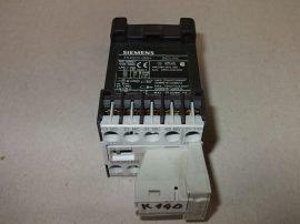 Mágneskapcsoló szupresszor diódával 24VDC, 4 pólusú, 10A, 1,1kW, Siemens 3TH2022-0BB4