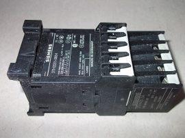 Mágneskapcsoló segédérintkezővel 24VDC 8 pólusú (5 záró 3 nyitó), 10A, 1,1kW, Siemens 3TH2031-0BB4