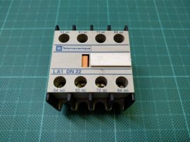 Segédérintkező mágneskapcsolóhoz, 4 pólusú 2xNO, 2xNC, Telemecanique LA1DN22, LADN22, LC1D1210 mágneskapcsolóhoz