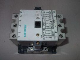 Mágneskapcsoló segédérintkezővel 110VAC, 3 pólusú (3 záró) 90A, 37kW, Siemens 3TF48