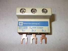Sorkapocs, összekötő modul mágneskapcsolóhoz 3 tagú, 660VAC 63A, Telemecanique GV1-G09