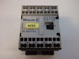 Mágneskapcsoló segédérintkezővel 24VDC, 3+1 pólusú 6,6A, 4kW, Moeller DIL EEM-01-G-C