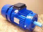 3 fázisú fékes, peremes villanymotor, MGM motori elettrici, BA100LA4, 400/230V 50Hz, 2,2 kW, 1415 rpm,