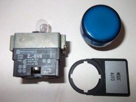 Jelzőlámpa modul izzóval, kék, 24V, Telemecanique Z-BV6