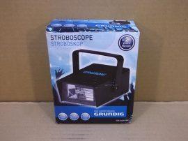 Stroboszkóp, disco lámpa, villanócsöves, 230V 5W, 130x80x55mm, állítható villogás sűrűség, Grundig AI&E QS-003